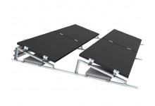 Plokščio stogo Remor fotovoltinių modulių montavimo konstrukcija